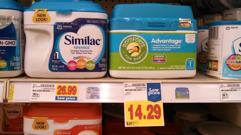 Generic formula comforts for baby Advantage